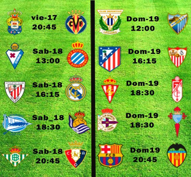 La Liga Full: Horario Jornada 28