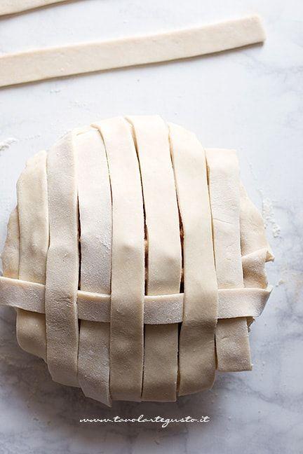 Come fare l'intreccio su una crostata 1 - Intreccio perfetto per crostate e pie