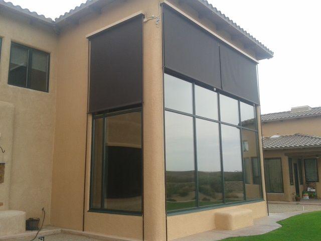 Tall Windows Need Tall Screens! Wind U0026 Solar Screen By Santa Fe Awning | Patio  Wind And Solar Screens | Pinterest | Tall Windows
