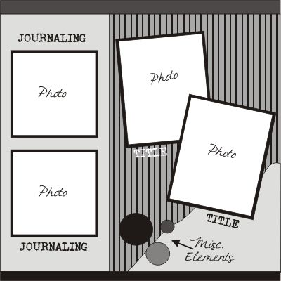 scrapbook layout - simple and easy to do... my kind of layout.