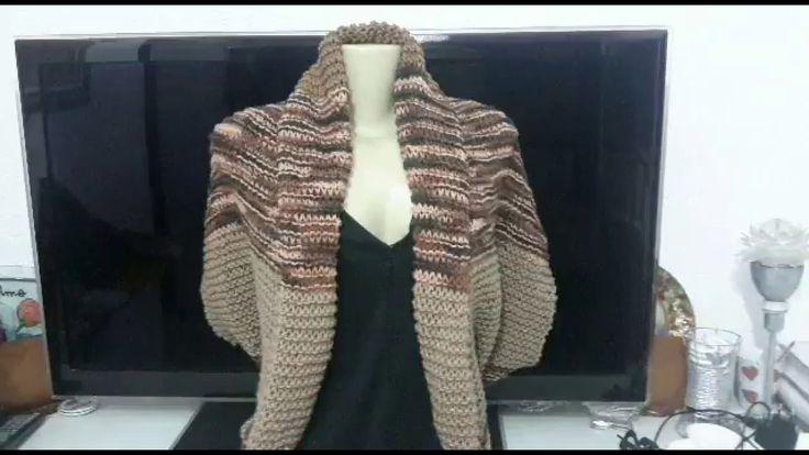 Casaco de tricô - 2 retângulos  😀😀😀😀😀