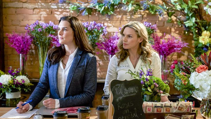 "Check out photos from the Hallmark Movies & Mysteries movie ""Flower Shop Mystery: Dearly Depotted,"" starring Brooke Shields, Brennan Elliott and Beau Bridges."