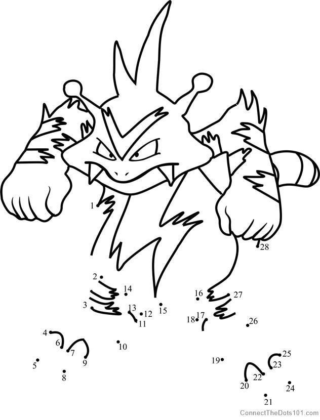 Pokemon Electabuzz Dot To Dot Snowman Coloring Pages Dinosaur Coloring Pages Bear Coloring Pages