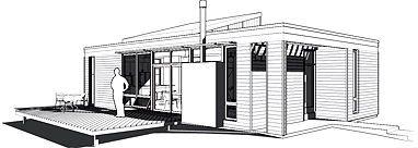 Maison préfabriquée modulaire / contemporain / écologique / à 2 étages GREENBELT STARTER by Ralph Rapson wieler