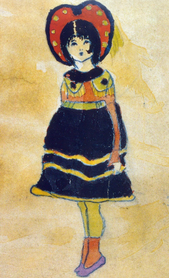 A Vivian Girl, Henry Darger I really like the color scheme in this as well as the simplicity of the lines on the person, specifically the face and the dress