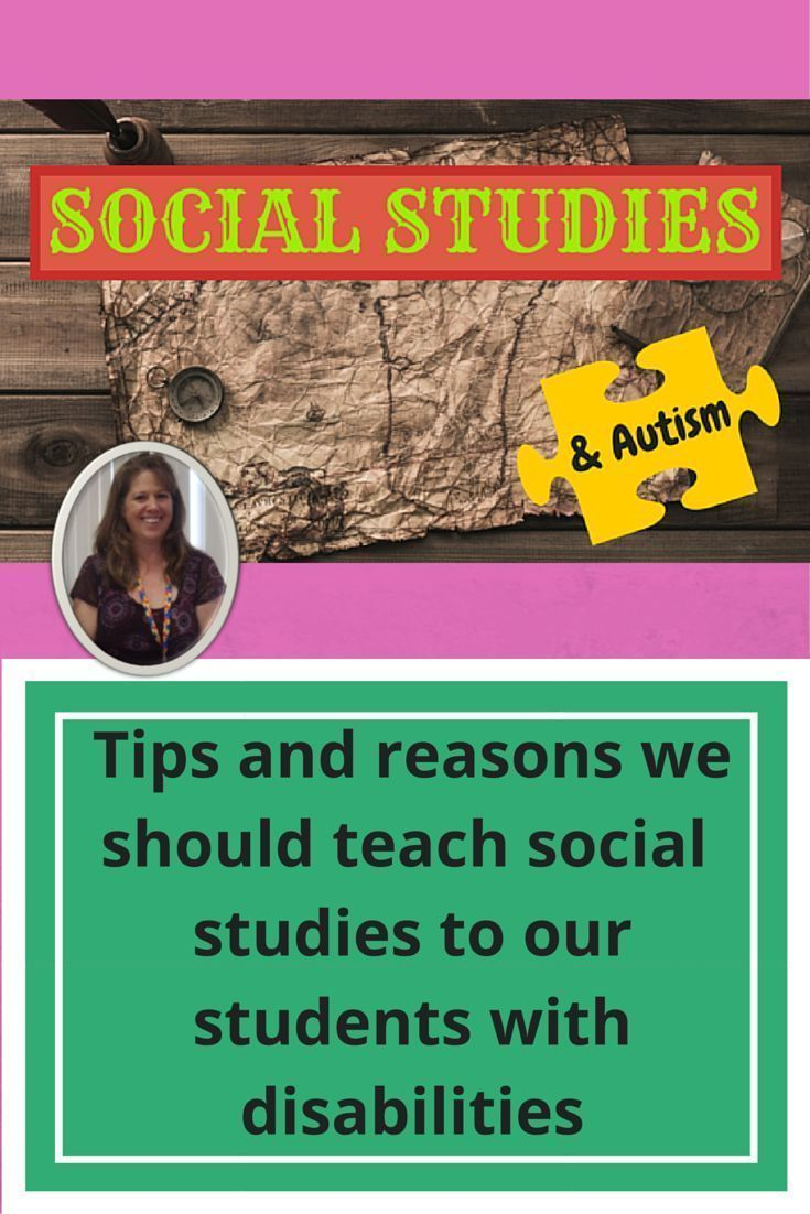 Do you teach a class with students who have significant challenges?  Do you teach Social Studies?  This post has some great tips on how to successfully make social studies part of your daily lesson plans, regardless of the learning level of your students.  There are also links to some units created specifically for students with disabilities, especially autism. Read more at:   http://specialneedsforspecialkids.org/2015/12/07/why-i-teach-social-studies/