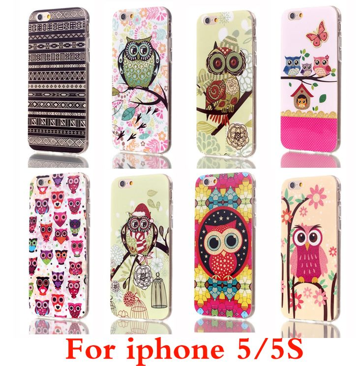 For Apple iPhone 5S Case Cute Owls Cartoon Soft TPU Gel Cover Case for iPhone 5S Phone Cases Capinha free shipping
