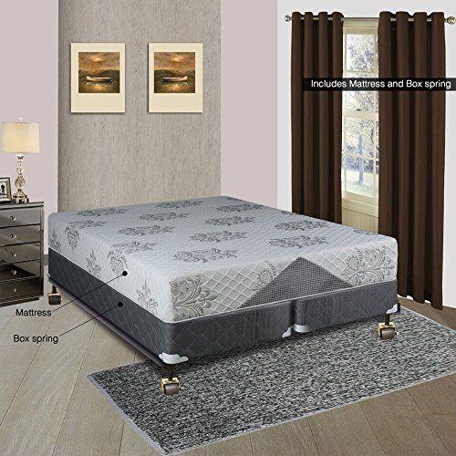Continental Sleep Mattress, 10-Inch Cool Gel Memory Foam Orthopedic Fully Assembled Mattress and Split Box Spring,Full XL