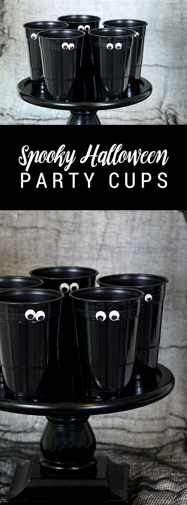 So easy, right? DIY Spooky Halloween Party Cups ..