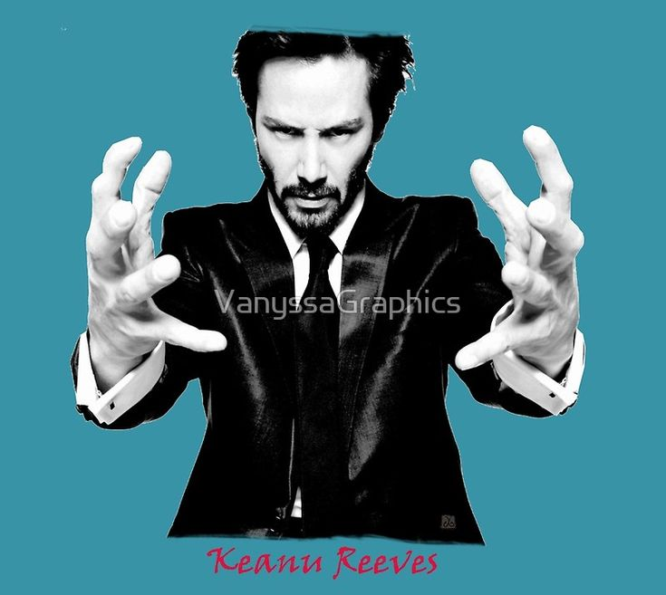Keanu Reeves the Movie Actor Portrait (Black and White) by VanyssaGraphics
