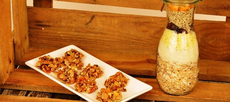 Müsli Kekse als Backmischung im Glas