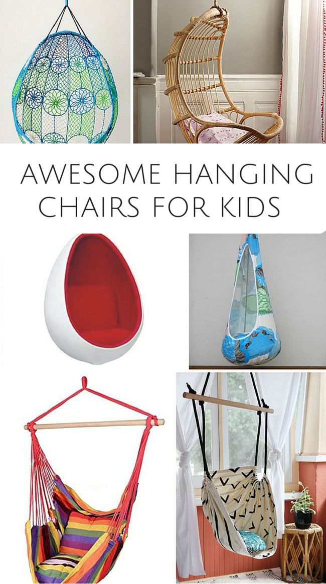 10 Awesome Hanging Chairs For Kids These Are Fun Chairs For Kids Bedroom Or Playroom With A Few
