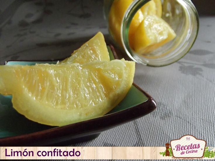 Limón confitado, receta paso a paso #     El limón confitado es muy común en la cocina del norte de África y la India. El proceso de elaboración es simple, los limones se introducen en un bote cerrado con agua y sal y ... »