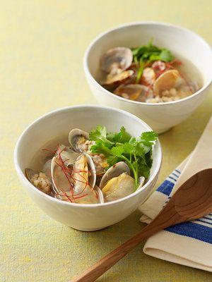 【ELLE a table】アロエとあさりのガーリックスープレシピ|エル・オンライン
