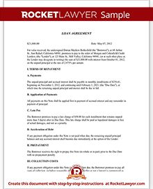 Sample Loan Agreement Form Template
