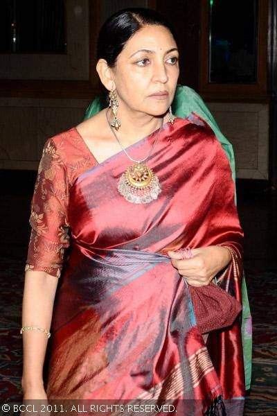 Deepti Naval during a musical event held by Khushi and ITDC at Ashok Hotel, Chanakyapuri, New Delhi.