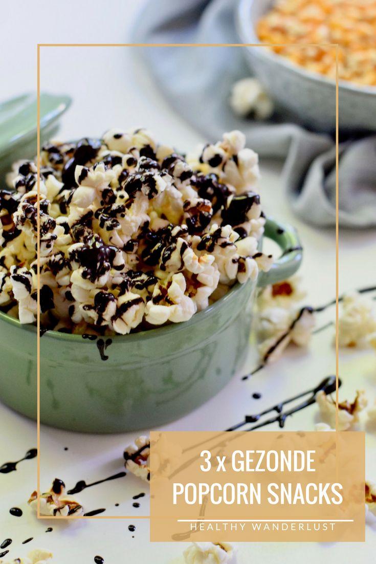 Popcorn is een gezonde snack! Lees nu op Healthy Wanderlust wat mijn 3 favoriete popcorn recepten zijn.