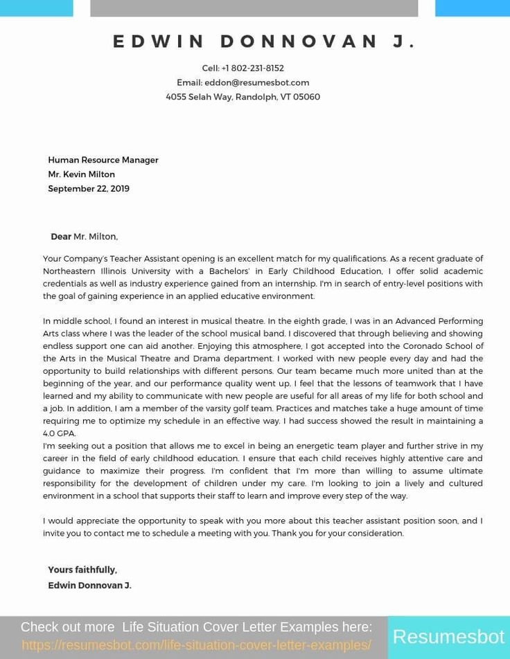 Teacher Cover Letters with Experience Cover letter
