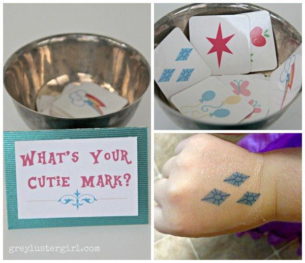 cutie mark tattoo My little pony Equestria Girls party