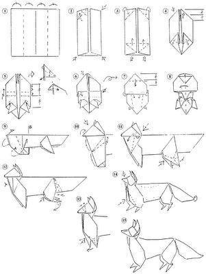 fox origami instructions