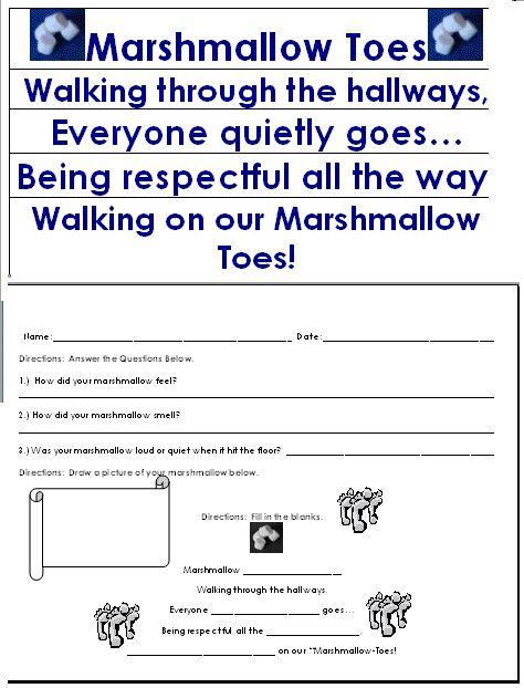 Marshmallow-Toes - Back to School Idea