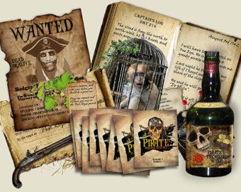 Pirate Murder Mystery party Game. . Download by MurderMysteryGames