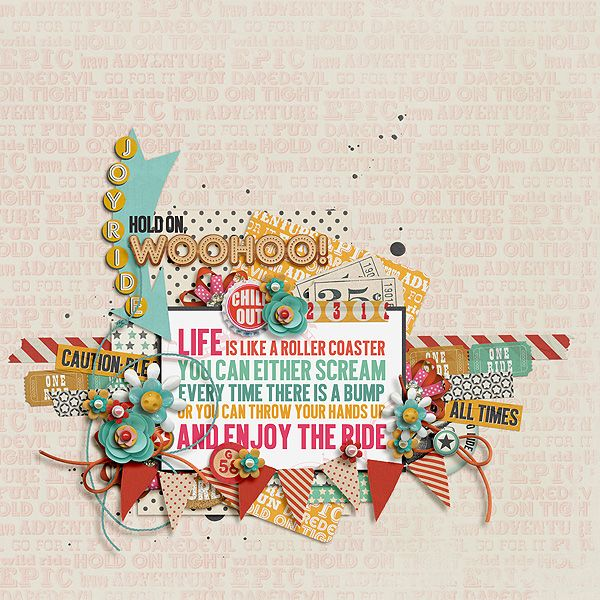 ENJOY THE RIDE Page Kit by ForeverJoy digital scrapbooking available @ The Lilypad #joycreated https://the-lilypad.com/store/FOREVERJOY-ENJOY-THE-RIDE.html