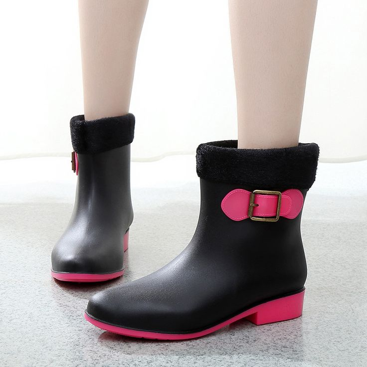 ==> [Free Shipping] Buy Best 2016 New women Rubber rainboots Anti- Skid bots Rain Boots Wellies gumboots Online with LOWEST Price | 32734000472