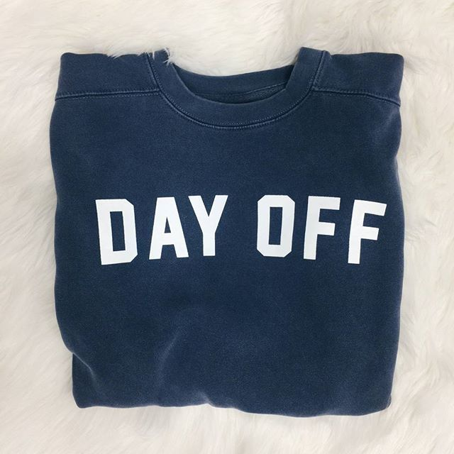 cozy day off sweatshirt // online now!