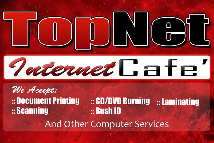 TopNet InternetCafe Tarpaulin Design