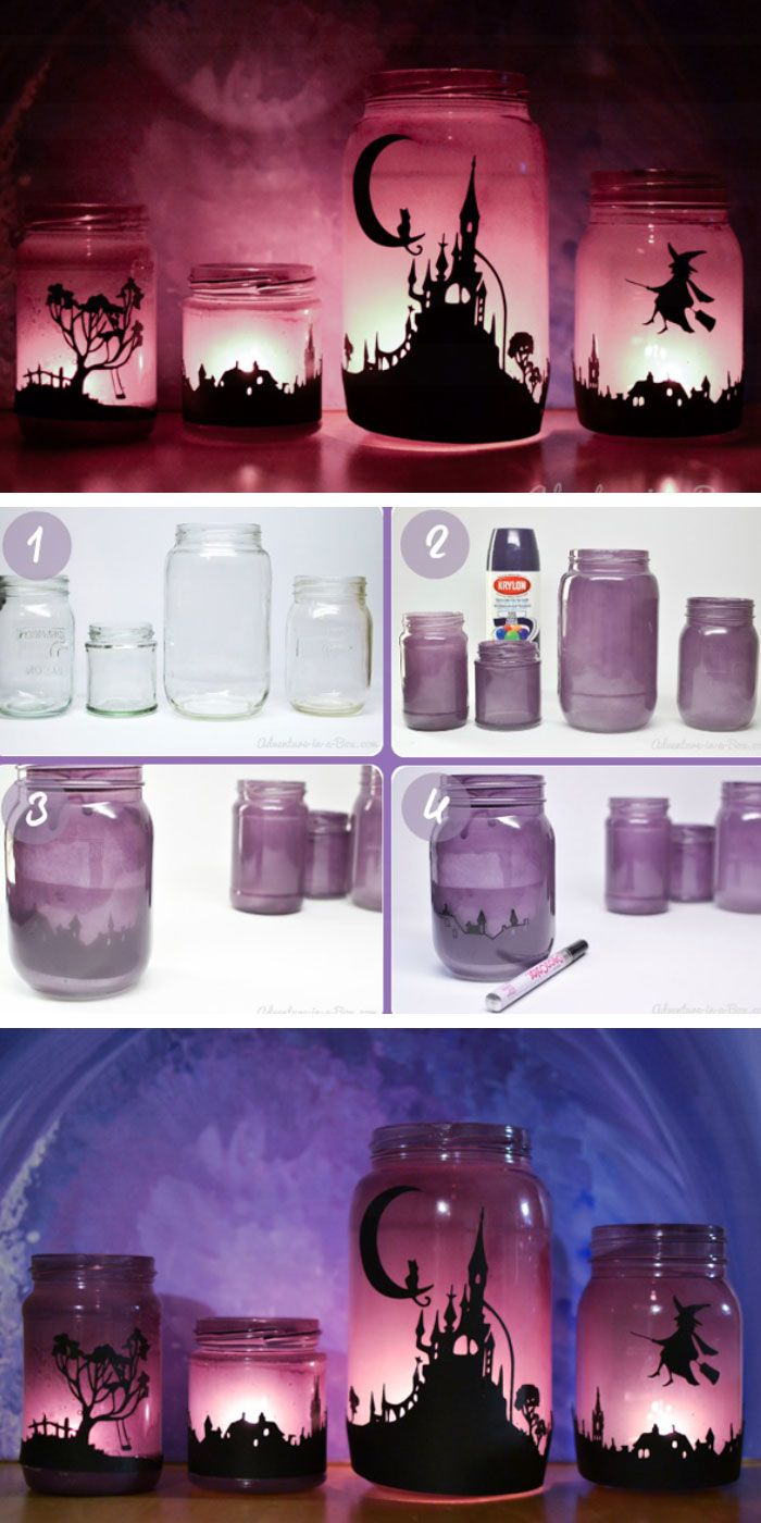Enchanting Halloween Lanterns | Click Pic for 20 DIY Halloween Decorations for Kids to Make | Cheap and Easy Halloween Decorations on a Budget