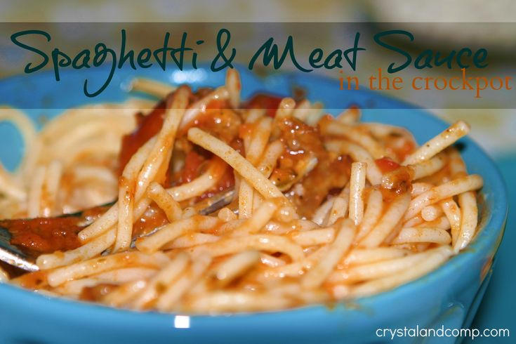 Easy Recipes: Spaghetti and Meat Source in the Crockpot