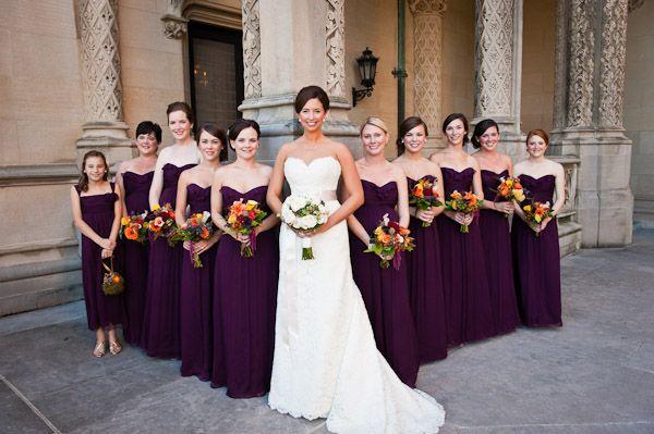 Love the dark purple with bright flowers!