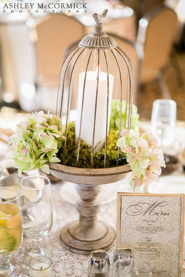 Diy wedding centerpiece cage candle cascading