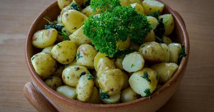 Cuisine-à-Vous - Peterselie-krielaardappeltjes met knoflook