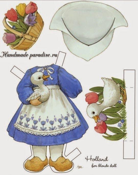 Бумажные куклы с одеждой для вырезания2