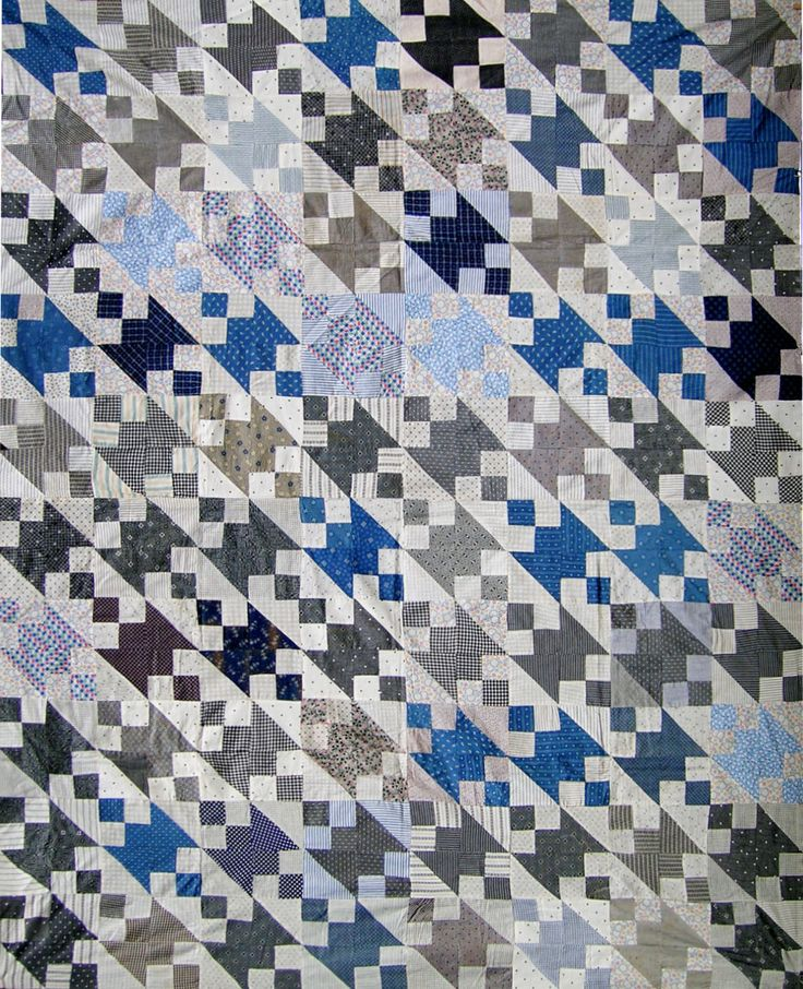 Jacobs Ladder Quilt using shirting fabric