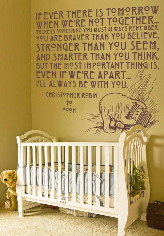 Love thisChild Room, Sweets Quotes, Pooh Bears, Kids Room, Vinyls Wall Decals, Baby Room, Winnie The Pooh, Christopher Robin, Babies Rooms