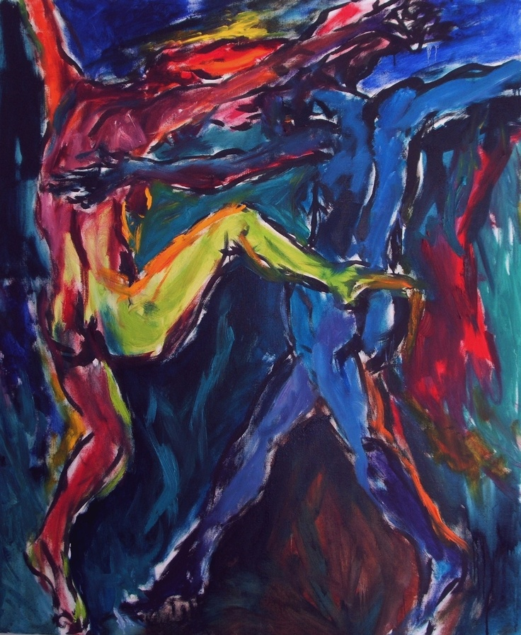 Title: Dancing  Date: 2012  Technique: Oil on canvas  Size of work: 190 x 150 cm    Price: 2.000 USD