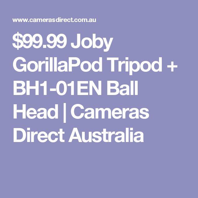 $99.99 Joby GorillaPod Tripod + BH1-01EN Ball Head | Cameras Direct Australia