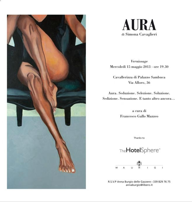 The HotelSphere invites you to the opening of AURA, the first solo exhibition by Simona Cavaglieri, curated by Francesco Gallo Mazzeo. AURA is a unique event, where different forms of art will live toghether, just for one night, in the Cavallerizza di Palazzo Sambuca, on May 15th, from 7.30 pm. The exhibition will continue in the following days at Hotel Principe di Villafranca. - See more at: http://www.hotelplazaopera.com/en/events/hotelsphere-event/73-aura.html#sthash.FukPpKzb.dpuf