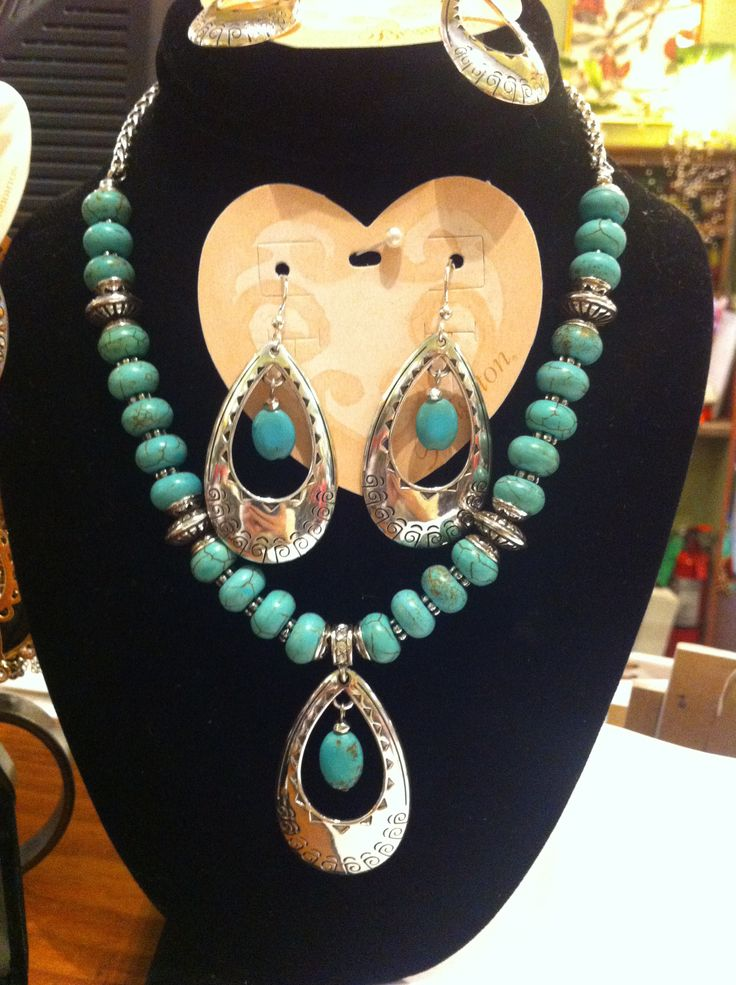 a turquoise jewelry set by brighton baubles bangles