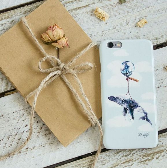 Far, Far Away Whale iPhone case : by The Dairy
