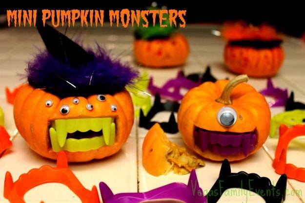 Halloween Mini Monster Pumpkins by Vegas Family Events