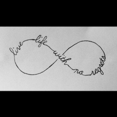 One Life No Regrets: Infinity Tattoos