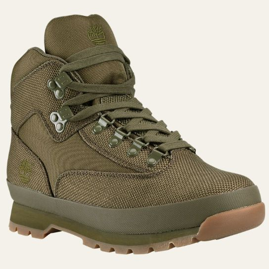 Take your military style outdoors in the Timberland Euro Hiker Cordura Fabric Boots.