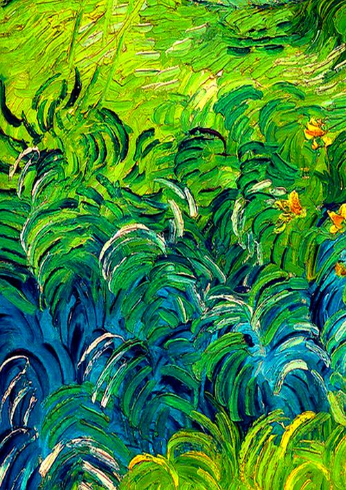 Green Wheat Fields, Auvers (detail) // Vincent Van Gogh