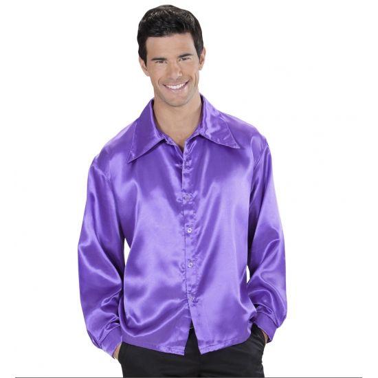 Paarse satijnen blouse  Paarse satijnen blouse. Mooie getailleerde paarse satijnen blouse met lange mouwen.  EUR 24.95  Meer informatie
