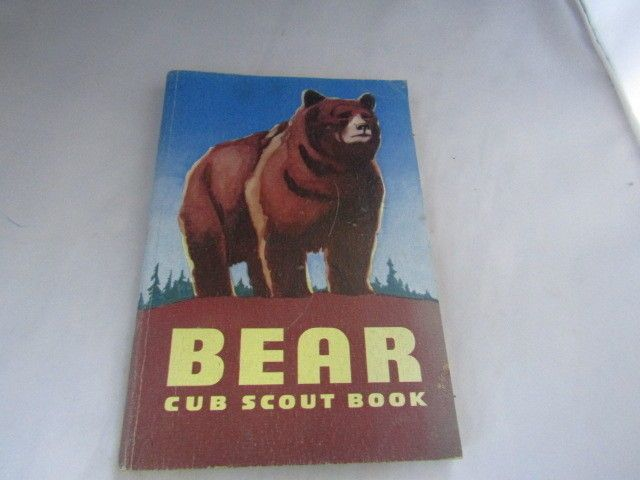 Boy Scouts Of America Vintage Bear Cub Scout Book 1954