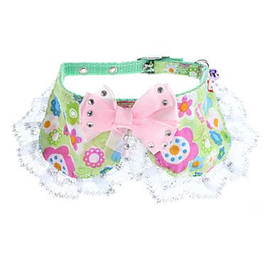 Adjustable Bowknot Style Flowery Pattern Collar for Dogs, Cats – GBP £ 3.93
